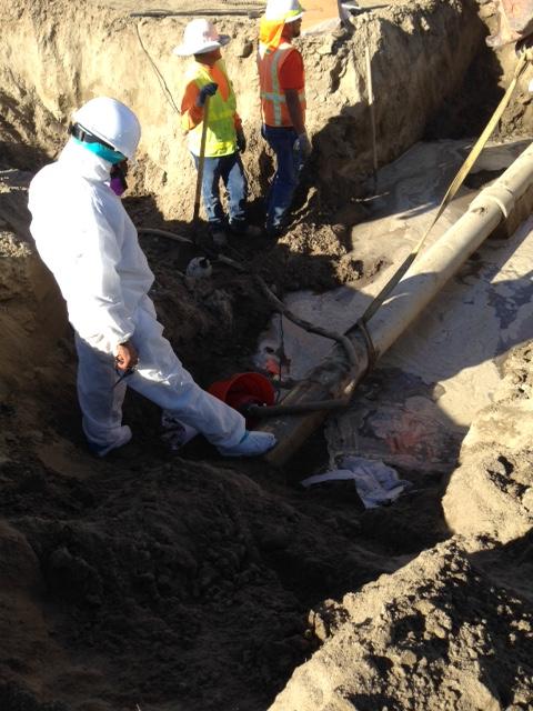 Asbestos Transite Pipe Removal
